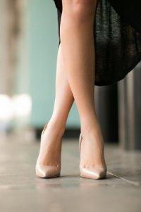 С чем носить туфли нюдового цвета