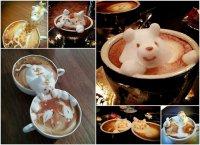 3D рисунки на латте