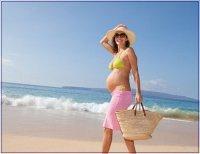 Поездка на море во время беременности