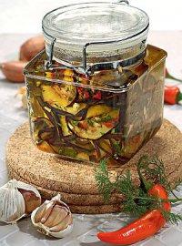 Консервированные баклажаны в оливковом масле