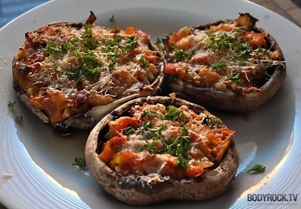 Вкусная и полезная пицца в грибах