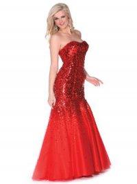 Шикарное красное платье на выпускной