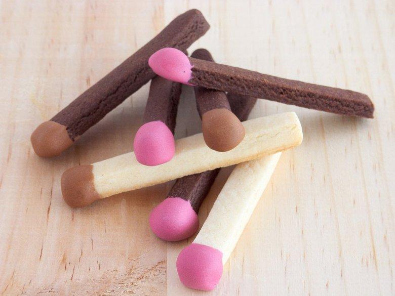 Идея для украшения печенья: спички