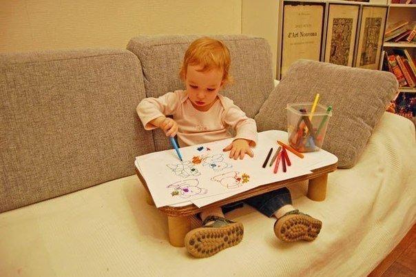 Столик для ребенка из картона