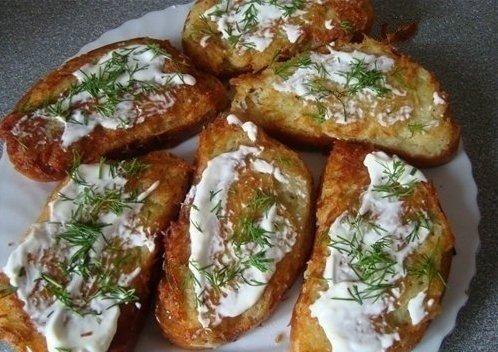 Бутерброды с картошкой