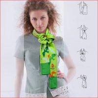 Летний платок: бант на шее