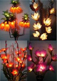 Необычные светильники в виде цветов
