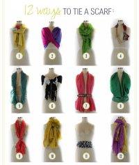 12 вариантов как завязать шарф