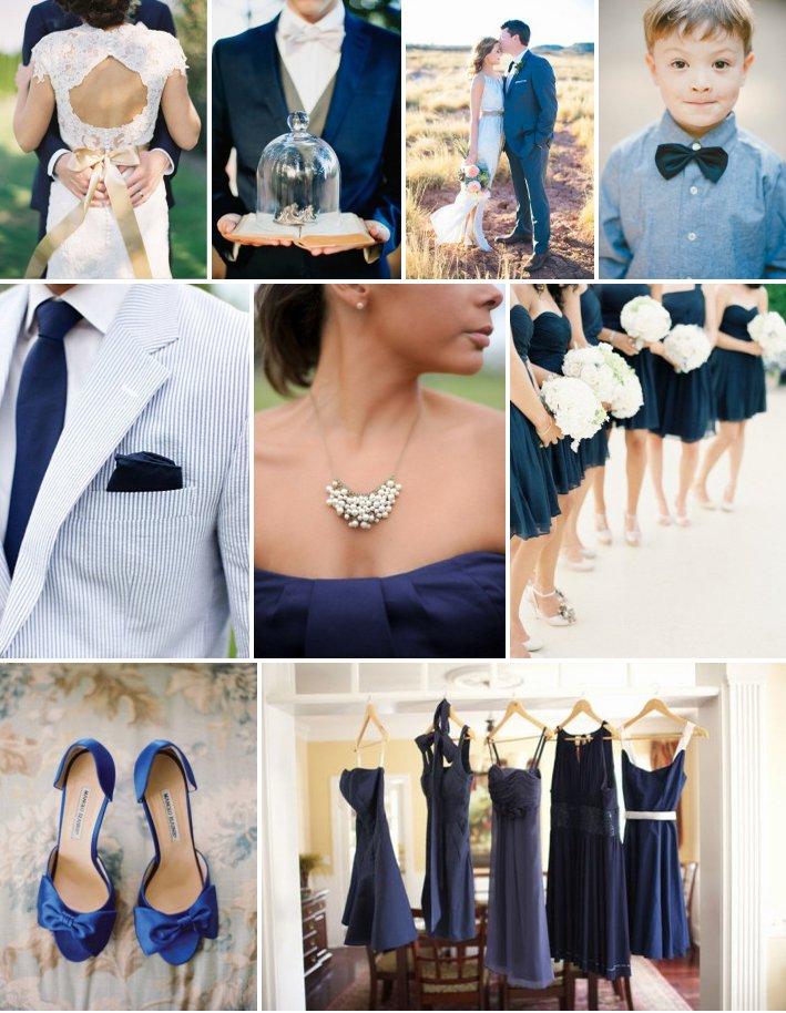 Свадьба в синем цвете: дресс-код