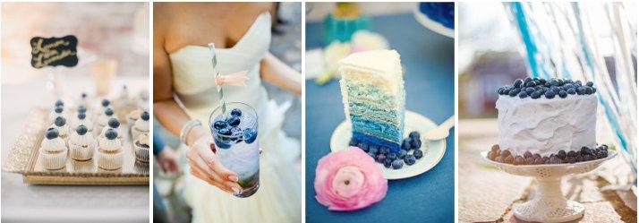 Свадьба в синем цвете: ягодное настроение