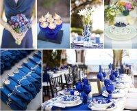 Свадьба в синем цвете: декор и флористика