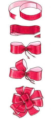 Как завязать большой подарочный бант