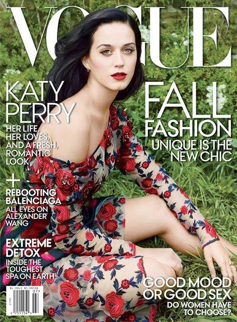Первый взгляд на Кэти Перри для июльского номера Vogue