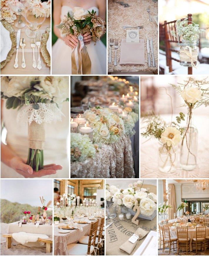 Свадьба в коричнево-бежевых тонах