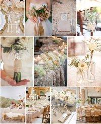 Свадьба в бежевых тонах: флористика и декор