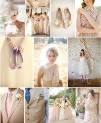 Свадьба в бежевых тонах: дресс-код