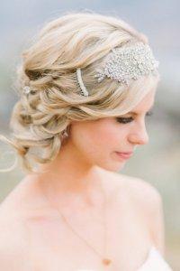 Гребень или заколка в прическе невесты