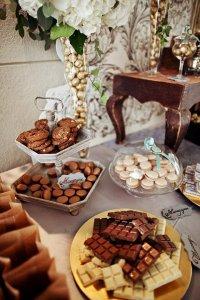 Шоколадное вдохновение для оформления сладкого стола на свадьбе