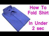 Как сложит рубашку менее чем за 2 секунды