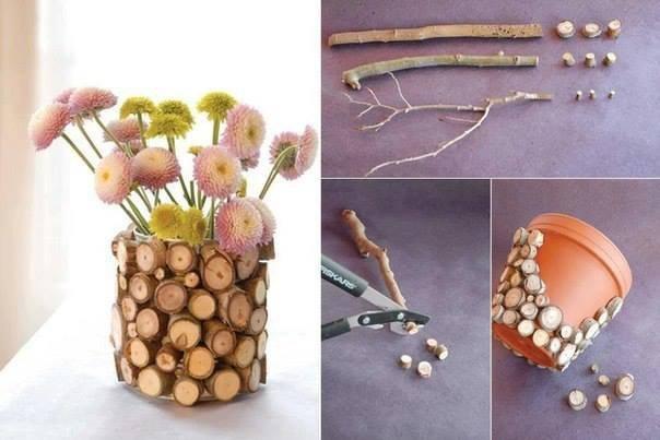 Симпатичный декор цветочного горшка