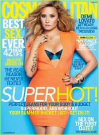 Деми Ловато на обложке журнала Cosmopolitan (август 2013)