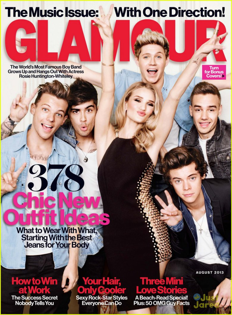 One Direction на обложке журнала Glamour (август 2013)