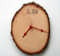 Настенные часы из полена