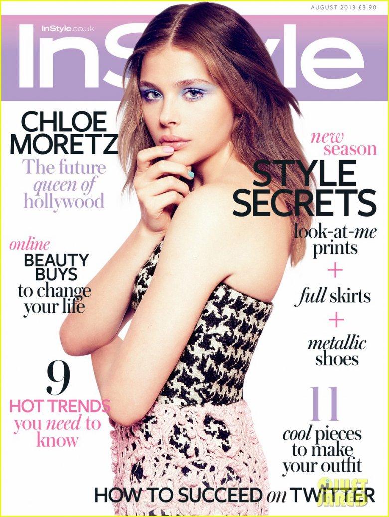 Хлоя Морец на обложке журнала UK InStyle (август 2013)