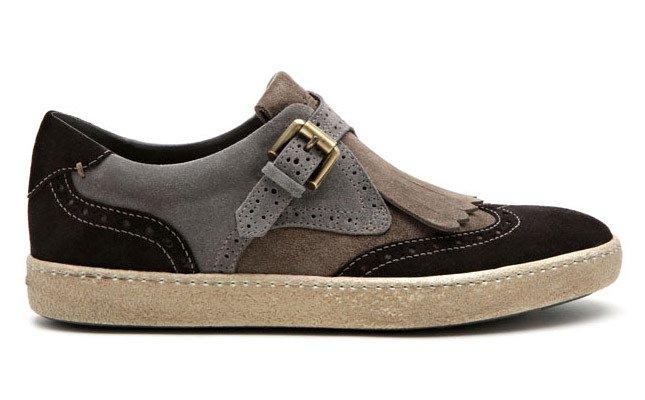Santoni представляет замшевые кроссовки с винтажным эффектом