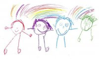 Детский рисунок: расположение