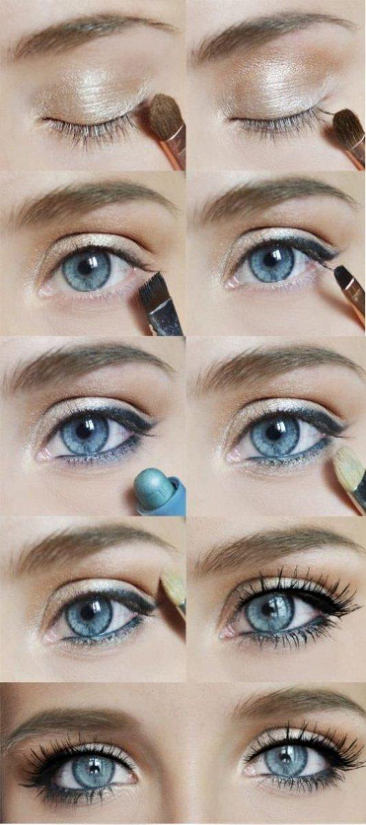 Выразительный макияж для голубых глаз