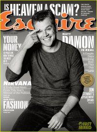 Мэтт Деймон на обложке Esquire (август 2013)