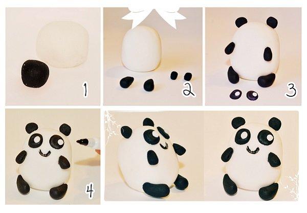 Панда из мастики