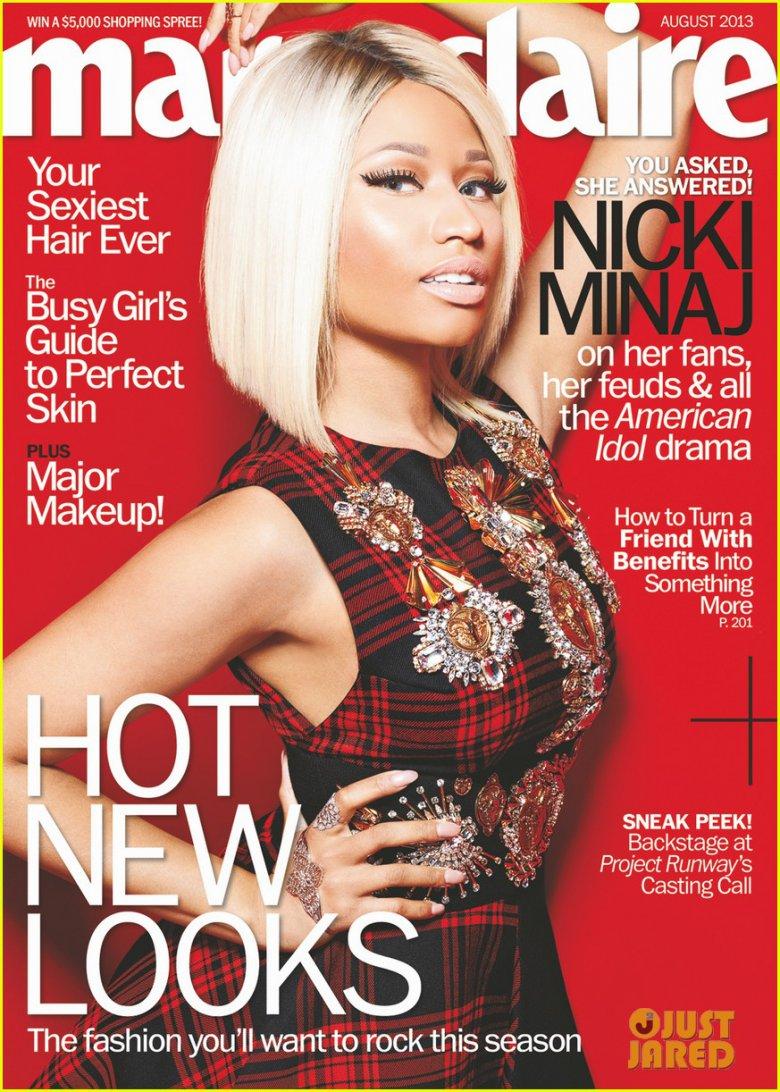 Ники Минаж на обложке Marie Claire (август 2013)