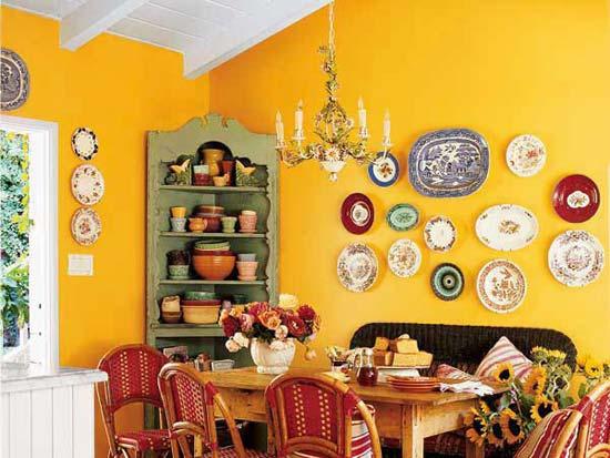 Декор с тарелками: как украсить комнату