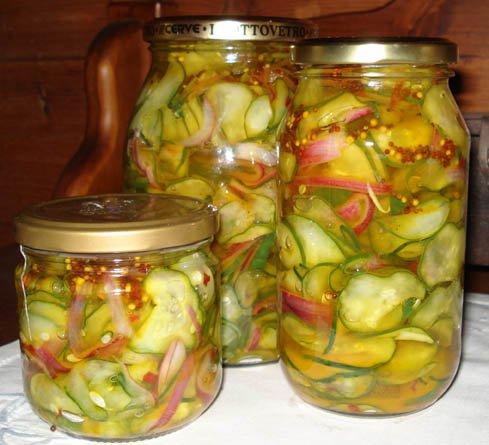 Маринованный салат из огурцов на зиму