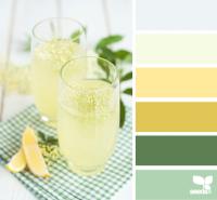 Желтые и зеленые оттенки для создания интерьера кухни
