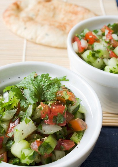 Индийский огуречный салат