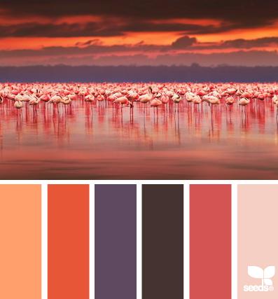 Розовые цвета заката для оформления гостиной или детской комнаты