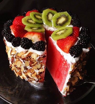 Торт из арбуза