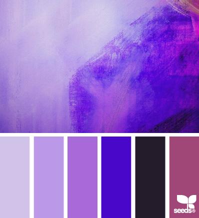 Фиолетовая палитра красок для оформления интерьера