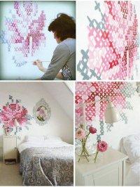 Вышивка на стене