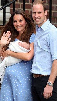 Первые фото Кейт Миддлтон, принца Уильяма и их ребенка