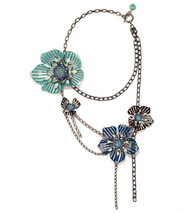 Ожерелье Lanvin  с цветами из металла