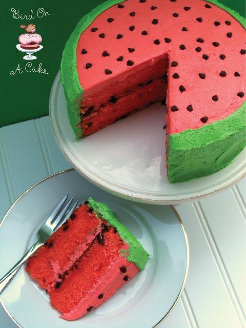 Торт с ароматом арбуза
