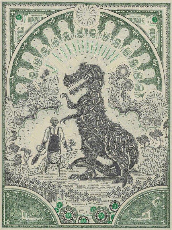 Необычные картины из долларов Марка Вагнера