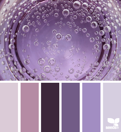 Фиолетовая палитра для оформления интерьера