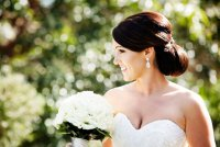 Свадебная прическа: пучок