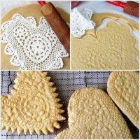 Как украсить печенье при помощи салфетки