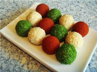 Фаршированные сырные шарики